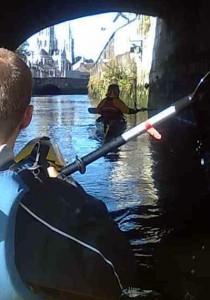Kayaking under the South Gate Bridge