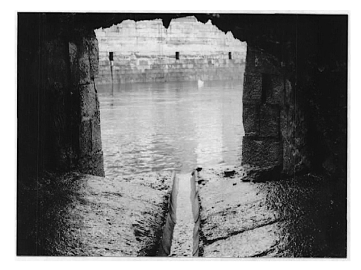 Corn Market Street: the former outfall to the North Channel. Photograph: Cork City Council.