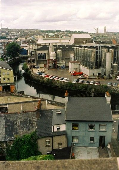View of the diversion canal from Elizabeth Fort (A.Beese 2005)
